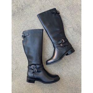 SODA Bio Black Riding Knee High Boots